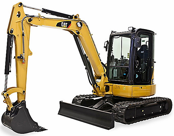 CAT 305E2 CR Mini Hydraulic Excavator at FLO Components NHES Booth #3849