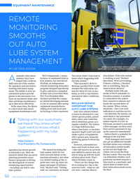 Article - FLOlink Remote monitoring smooths out auto lube system management