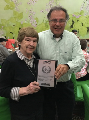 Nora and Chris Deckert - FLO Components awarded 40th Anniversary Plaque by SKF