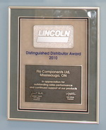 Lincoln Industrial Corp. Distinguished Distributor Award 2010