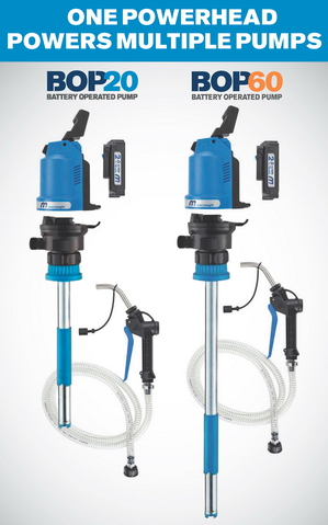 Introducing the Macnaught BOP Series of 18V Rechargeable Oil Pumps for 5-gallon or 16-gallon Containers