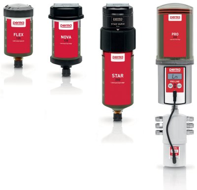 PERMA Single Point Automatic Lubricators - FLEX, NOVA, STAR
