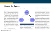 Article: Lubrication and the Three Pillars of an Asset Management Program