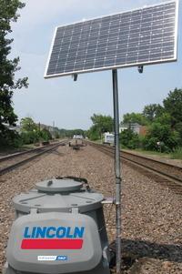 Rail Autolube System Solar Panel