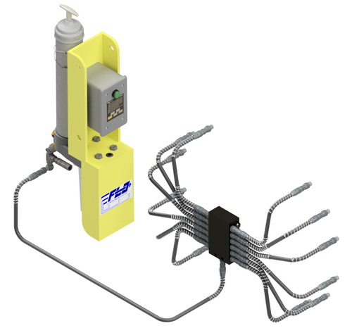 UV Automated Greasing System for loaders, pavers, excavators, graders, mining and other heavy equipment