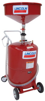 Lincoln 20-Gallon Tank Portable Oil Drain