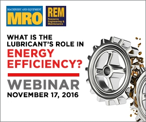 Oil & Lube Webinar Series on November 17, 2016 - What is the lubricant's role in energy efficiency?
